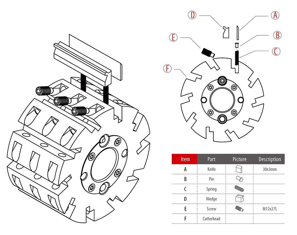 H03-Planing Hydraulic Cutterhead