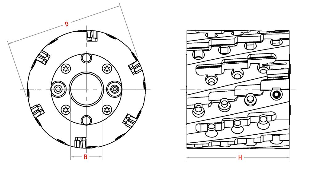 H05-Heavy Duty Spiral Hydraulic Cutterhead
