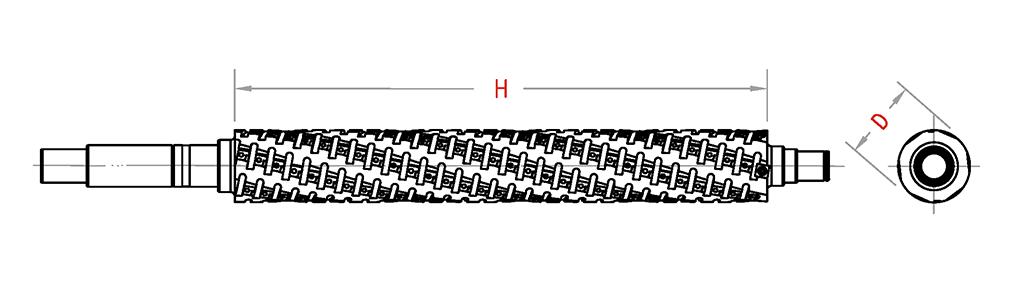 P08-Spiral Cutterhead With Shear Angle