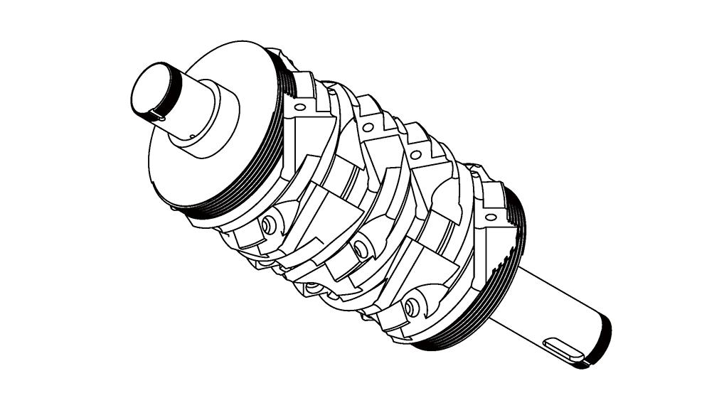Z03-Replaceable Crashing Cutterhead